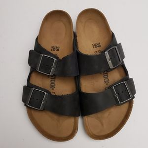 Birkenstock Arizona Black Leather 39